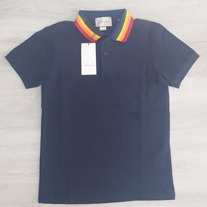 GUCCI MEN NAVY BLUE POLO SHORT SLEEVE